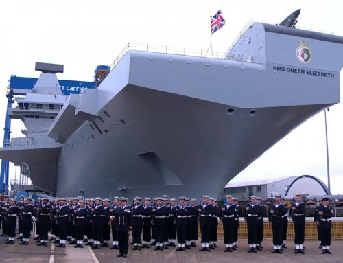 Queen launches new aircraft carrier