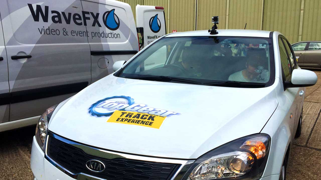 top gear video company go pro filming 360 video production live event streaming london