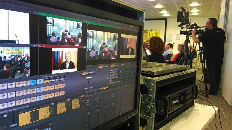 company webcast video and webcast production company to film event and stream to facebook filming and webcasting agency based in London live streaming UK