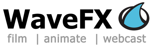 WaveFX – Cambridge Video Company: 01223 505600 Logo